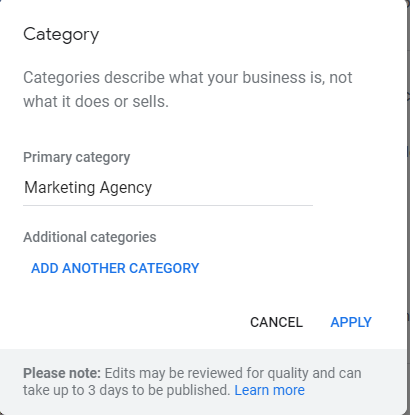 Google my Buiness categories 10 local Seo mistakes that Business owners make